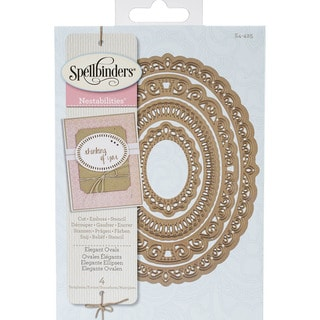 Spellbinders Nestabilities Decorative Elements Dies-Elegant Ovals