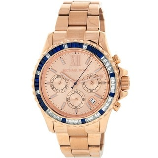 Michael Kors Women's MK5755 Everest Rosegold Colorful Baguette Watch