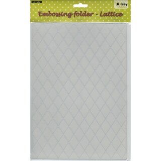 Nellie's Choice Embossing Folder A4-Lattice