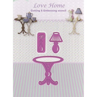 Joy! Crafts Cut & Emboss Die-Love Home-Table, Lamp, Cupboard