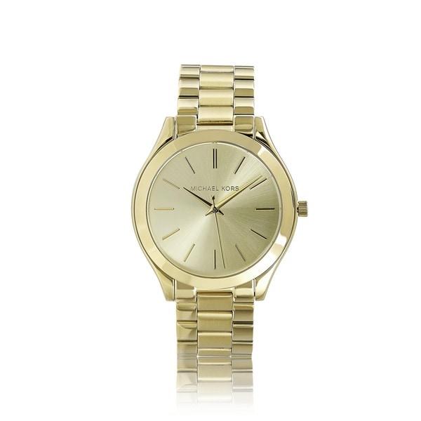 fa352e7c9c69 Shop Michael Kors Women s MK3179 Runway Goldtone Watch - Gold - Free ...