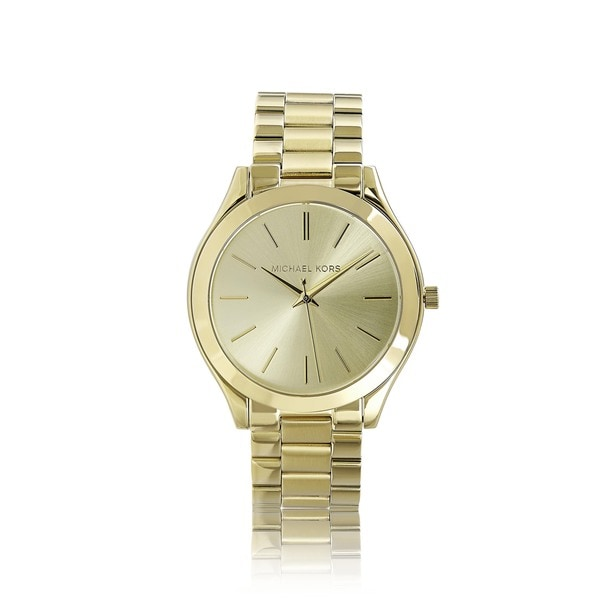 7ed5582d255c Shop Michael Kors Women s MK3179 Runway Goldtone Watch - Gold - Free ...