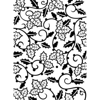 Embossing Folder 4.25inX5.75in-Holly Vines