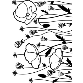 Embossing Folder 4.25inX5.75in-Poppy Field