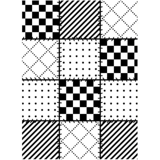 Embossing Folder 4.25inX5.75in-Quilt Blocks