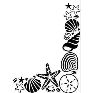 Embossing Folder 4.25inX5.75in-Shell Corner