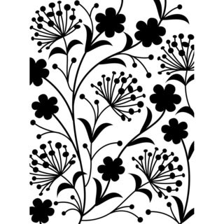 Embossing Folder 4.25inX5.75in-Dandelion