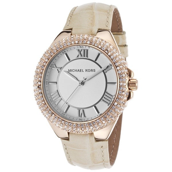 2a5626a78316 MIchael Kors Women's MK2330 Slim Camillle Crystal Tan Leather Watch