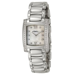 Ebel Women's 'Brasilia' Stainless Steel and Diamonds Swiss Quartz Watch