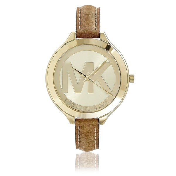 Michael Kors Women's MK2326 Slim Runway Logo Dial Watch