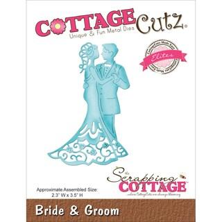 CottageCutz Elites Die 2.3inX3.5in-Bride & Groom