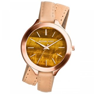 Michael Kors Slim Runway Double Wrap Leather Women's MK2328 Watch