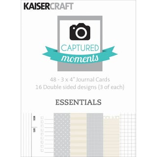 Captured Moments Double-Sided Cards 3inX4in 48/Pkg-Essentials