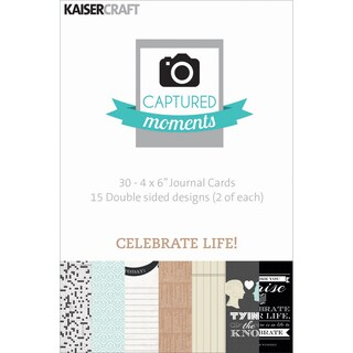 Captured Moments Double-Sided Cards 6inX4in 30/Pkg-Celebrate Life!