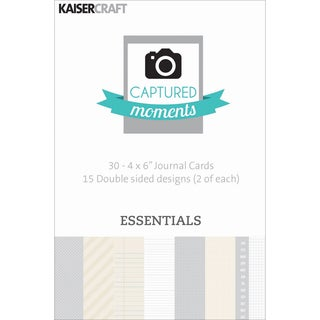 Captured Moments Double-Sided Cards 6inX4in 30/Pkg-Essentials
