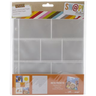 Sn@p! Insta Pocket Pages For 6inX8in Binders 10/Pkg-(3) 2inX2in & (4) 3inX3in Pockets