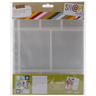 Sn@p! Insta Pocket Pages For 6inX8in Binders 10/Pkg-(6) 2inX2in & (2) 3inX4in Pockets