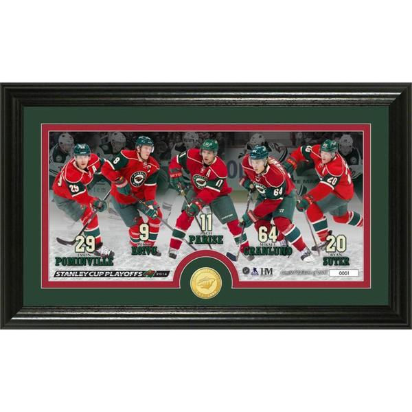NHL Minnesota Wild Playoff Team Force Bronze Coin Panoramic Photo Mint