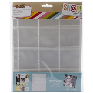 Sn@p! Insta Pocket Pages For 6inX8in Binders 10/Pkg-(12) 2inX2in Pockets