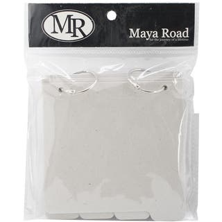 Maya Road Chipboard Album W/Tabs 5inX5.25in-Square: 8 Pages & 2 Rings https://ak1.ostkcdn.com/images/products/9190684/P16364101.jpg?impolicy=medium