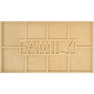 Beyond The Page MDF Family Word Frame W/8 Openings-19.75inX7.75inX.5in