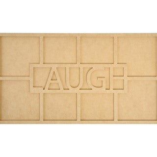 Beyond The Page MDF Laugh Word Frame W/8 Openings-19.75inX7.75inX.5in