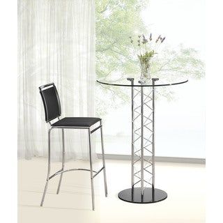 Zuo Chardonnay Tempered Glass Bar Table