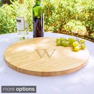 Large Personalized Bamboo 16-inch Lazy Susan