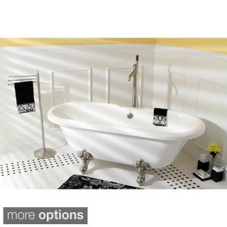 Vintage Collection 67-inch Acrylic Double Ended Clawfoot Tub
