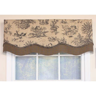 Country Side Charcoal Glory Window Valance