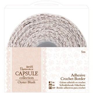 Papermania Oyster Blush Adhesive Crochet Border-5m