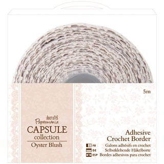 Papermania Oyster Blush Adhesive Crochet Border-5m