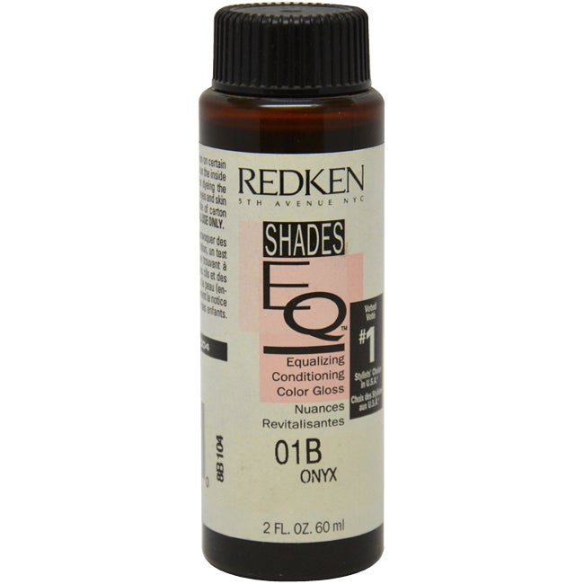Redken Shades EQ Color Gloss 01B Onyx (Black) Women's 2-o...