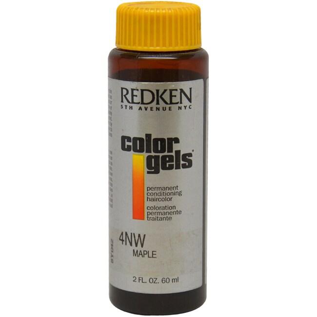 Redken Color Gels 4NW Maple (Brown) Men's 2-ounce Permane...