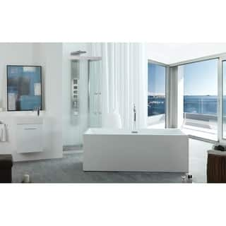 Freestanding 67-inch Rectangular White Acrylic Bathtub|https://ak1.ostkcdn.com/images/products/9191638/P16364917.jpg?impolicy=medium