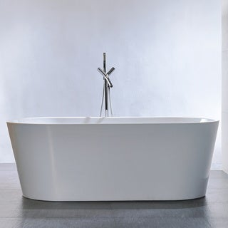 Freestanding 67-inch Double Ended Style White Acrylic Bathtub
