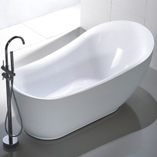 Claw foot tubs shop the best deals for feb 2017 for Best acrylic tub