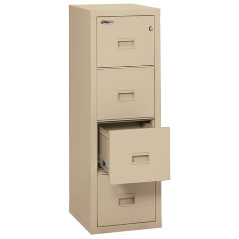 FireKing Turtle Vertical File Cabinet, Letter/Legal, 4 Drawers
