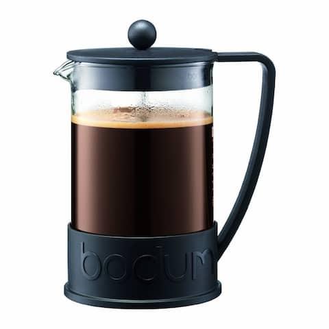 Bodum BRAZIL French Press Coffee Maker, 51oz, 1.5 Liter, 12 Cup, Black