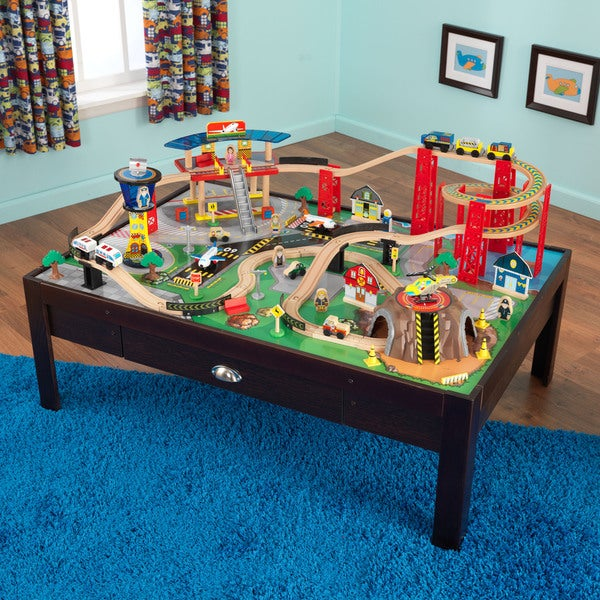 KidKraft Airport Express Train Set and Table. Opens flyout.
