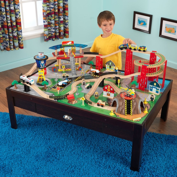 Shop Kidkraft Airport Express Train Set And Table Free