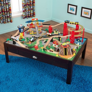 KidKraft Airport Express Train Set and Table  sc 1 st  Overstock & Shop KidKraft Metropolis Train Table and Set - Free Shipping Today ...