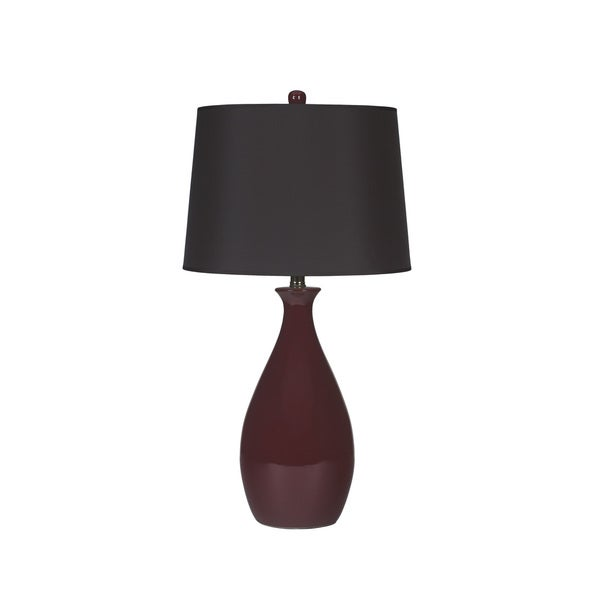 Signature Design by Ashley Jemma Deep Red Ceramic Table Lamps (Set of 2)