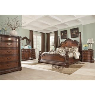 ashley bedroom suites. Signature Designs by Ashley Ledelle Brown Poster Bed Design Bedroom Furniture For Less  Overstock com