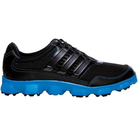 Adidas Men's Crossflex Sport Black/ Black/ Solar Blue Golf Shoes