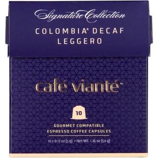 Cafe Viante Colombia Espresso Leggero Decaf Nespresso Compatible Coffee Capsules (Pack of 7)