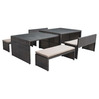 Sanibel Espresso Outdoor Dining Flex Set