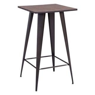Titus Rustic Wood Bar Table