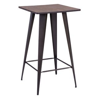 Titus Rustic Brown Wood and Steel Bar Table