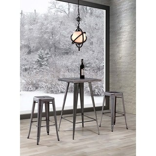 Olympia Gunmetal Steel Bar Table